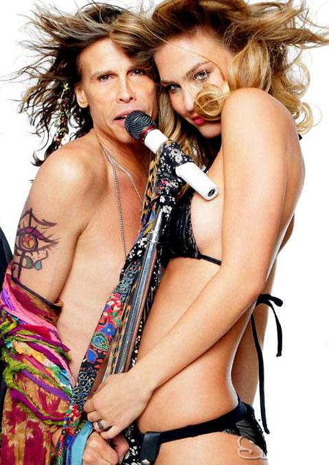 Steven Tyler and Bar Refaeli