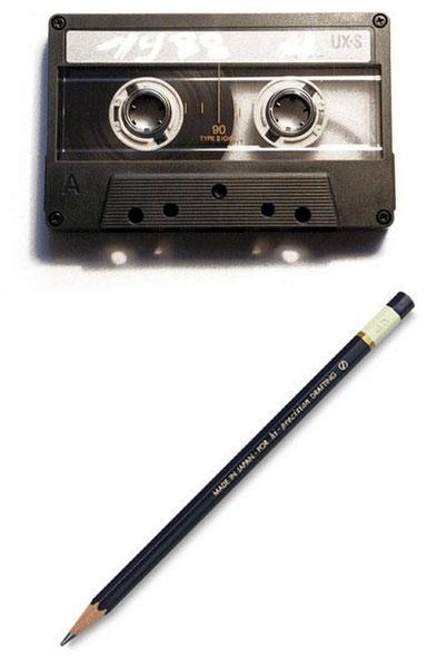 cassette crayon