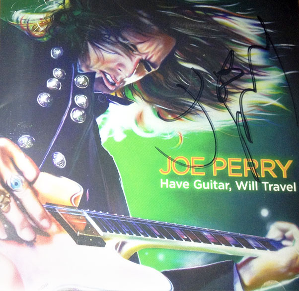 joe perry signed cd