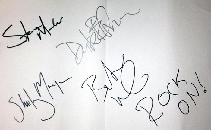 pink garbage autografe blog