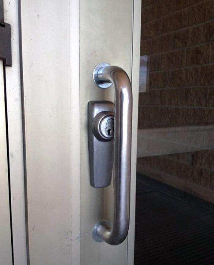 lock under handle