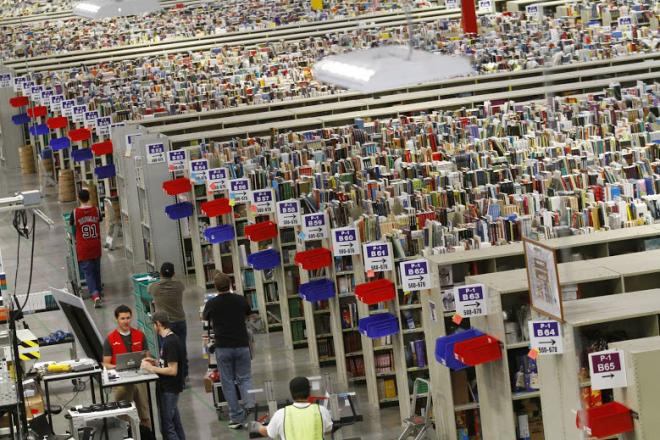 inside amazon warehouse