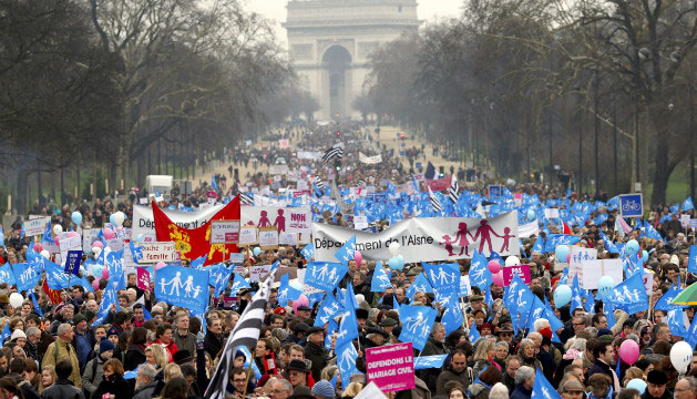 france same sex protest