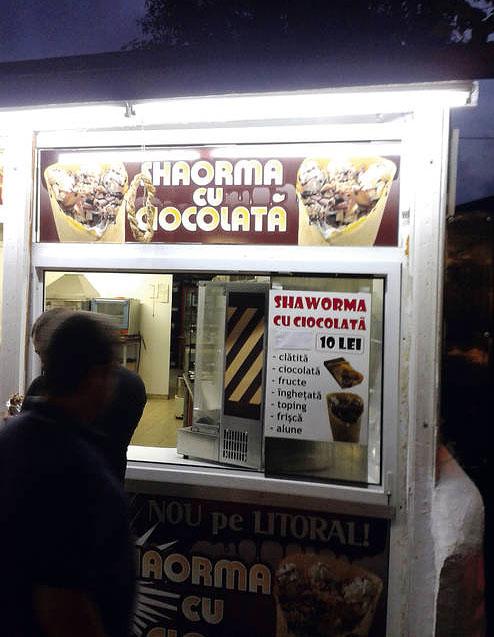 shaorma ciocolata