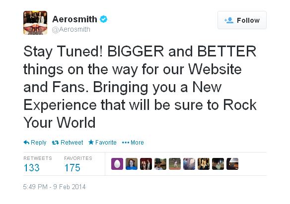 aerosmith twitter