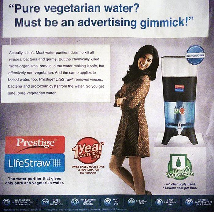 vegetarian water