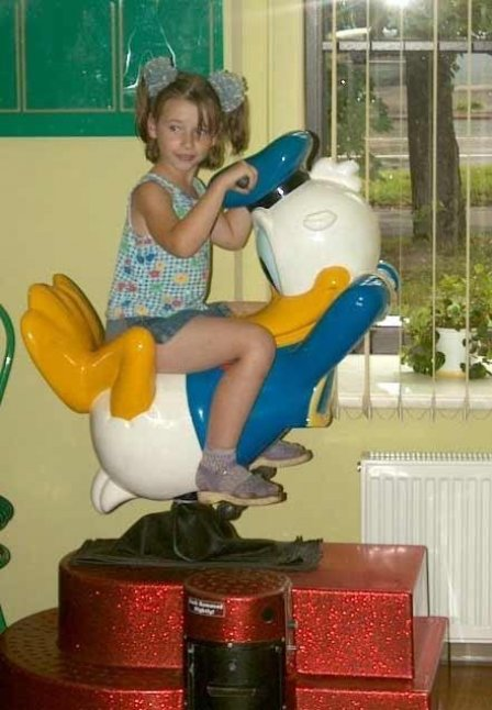 riding donald duck